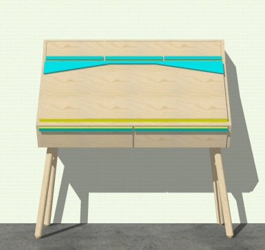 Desk with drawers that can be closed.