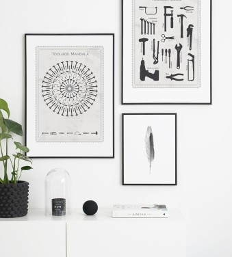 Tool posters in frames